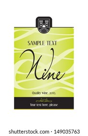 Wine label design - vector