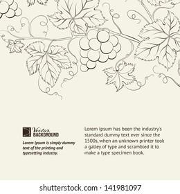 Wine list label. Vector illustration.