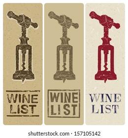 wine list slim covers