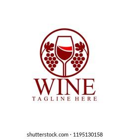 Wine Logo Design. Wine Logo Template