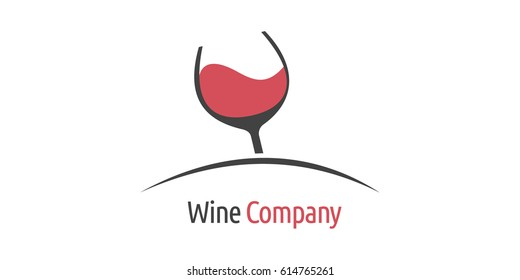 Wine logo design template. Brand, icon, badge or label for winery, Vineyard or company. Creative Concept vector.