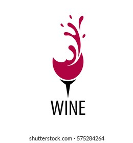 Wine logo design template. Vector illustration of icon
