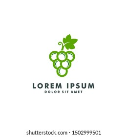 Wine logo design vector illustration