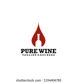Wine Logo Design Vector Template Ready to Use