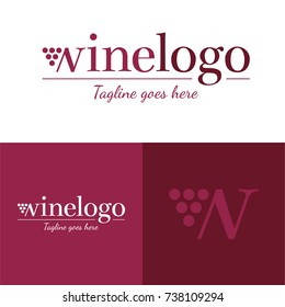 Wine Logo - Vector Illustration - Icon and logo