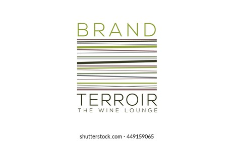 Wine logo vector template. Wine label template. Local winery sign. Terroir illustration