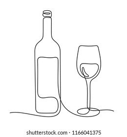 Wine one line sketch