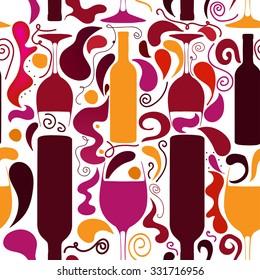wine pattern color splash