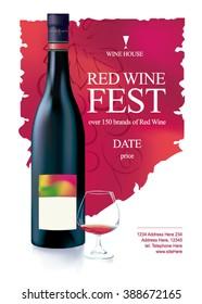 Wine Poster. Wine Fest Poster. Wine House Poster