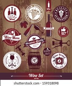 Wine set background.
