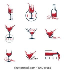 Wine set logos