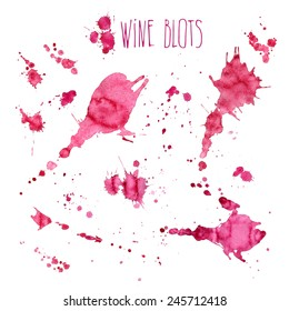 Wine splash and blots concept