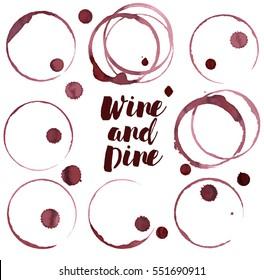 Wine spots, vector