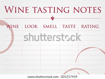 Wine Tasting Nones Vector Template Stock Vector (Royalty Free ...