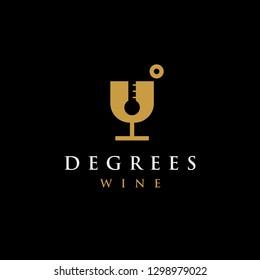wine temperature logo icon, wine logo