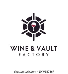 Wine Vault / Factory logo design inspiration