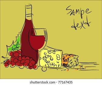 wine. vector