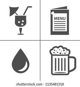 Wine vector illustration icon set. Included the icons as red wine, glasses, sommelier, tasting, ferment and more