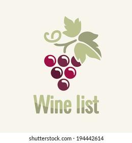 Wine vintage grapes label background