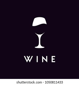 Wineglass Goblet Wine Drink silhouette logo design