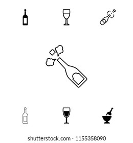 Wineglass icon. collection of 7 wineglass filled and outline icons such as wine glass. editable wineglass icons for web and mobile.