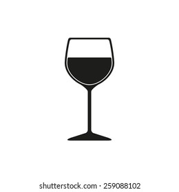 The wineglass icon. Goblet symbol. Flat Vector illustration