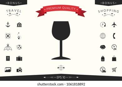 Wineglass icon symbol