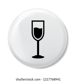 wineglass icon in trendy flat style isolated on background. wineglass icon page symbol for your web site design wineglass icon logo, app, UI. Clock icon Vector illustration, EPS10.