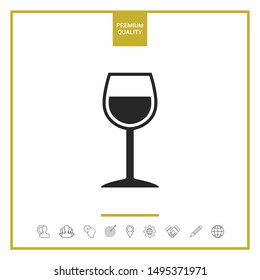 Wineglass symbol icon. Graphic elements for your design
