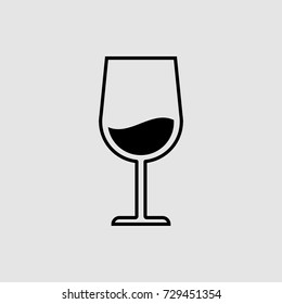 wineglass vector icon