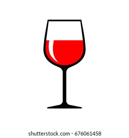 Wineglass vector icon on white background