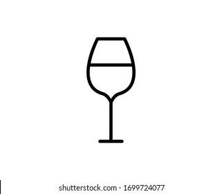 Wineglasses flat icon. Single high quality outline symbol for web design or mobile app.  Wineglasses thin line signs for design logo, visit card, etc. Outline pictogram EPS10