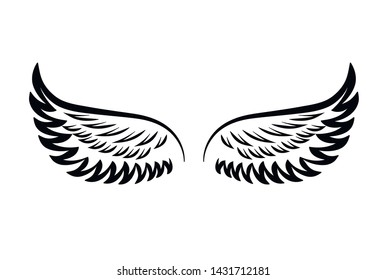 wing abstract vector on white background