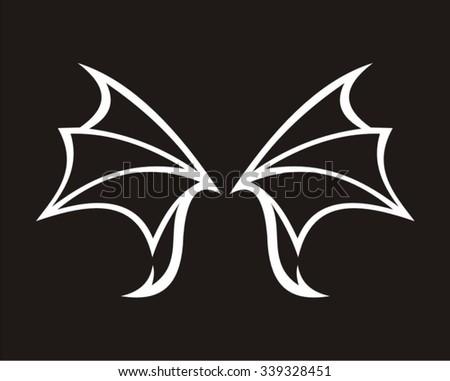 f43b40101 Wing Bat Tribal Stock Vector (Royalty Free) 339328451 - Shutterstock