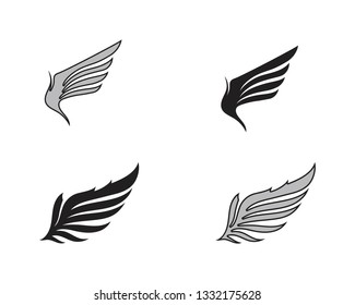 Wing bird falcon logo