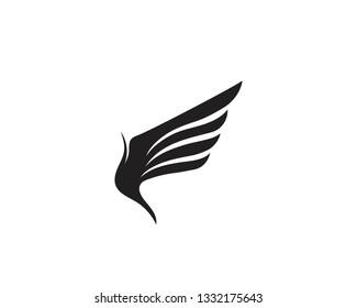 Wing bird falcon logo