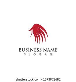 Wing bird logo and symbol vector image