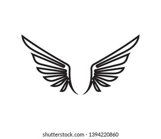 Wing black Logo Template vector illustration design