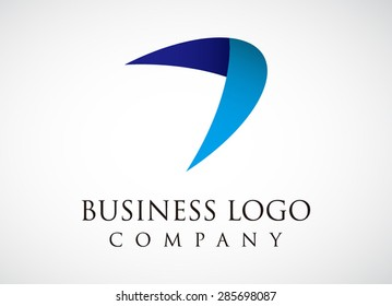 Wing fly business logo element design symbol icon for template vector company