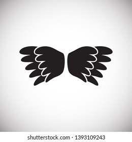 Wing icon on white background for graphic and web design. Simple vector sign. Internet concept symbol for website button or mobile app.