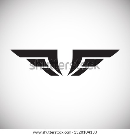Wing Icon On White Background Graphic Stock Vector (Royalty Free