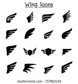 Wing icon set vector illustration graphic design
