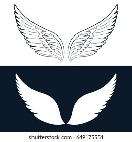Wing Icon. Vector illustration