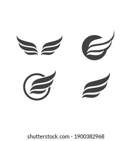 Wing illustration logo vector design
