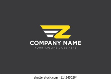 wing letter z logo, icon, symbol
