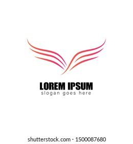 wing line logo design, icon design template elements