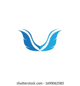 Wing logo symbol vector ilustration