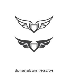 wing logo template set