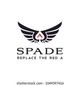 Wing Spade Ace logo design inspiration