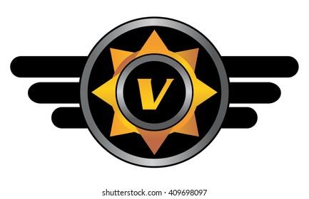 Wing Star Letter V